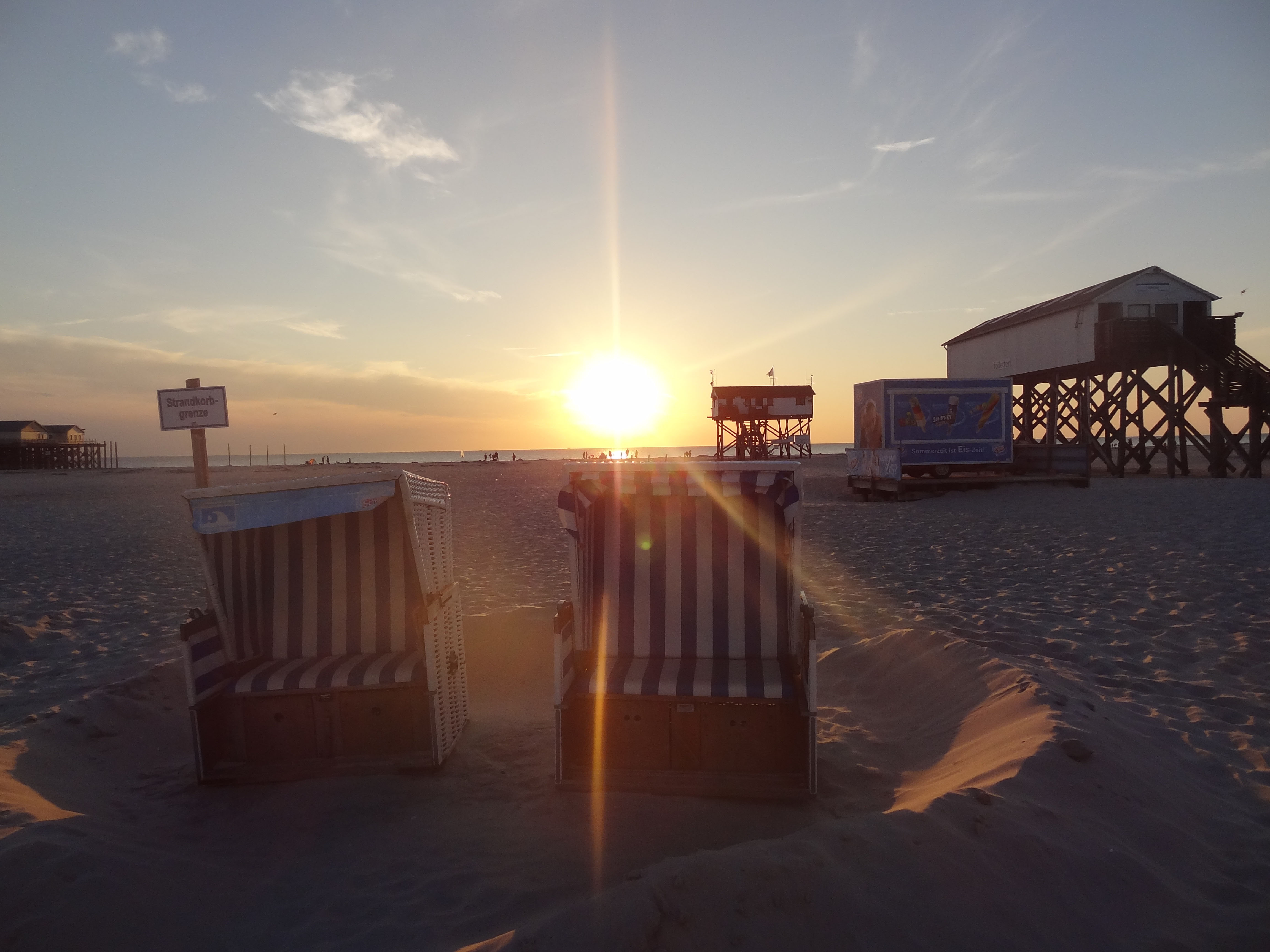 Abendrot am Nordseestrand in St. Peter-Ording